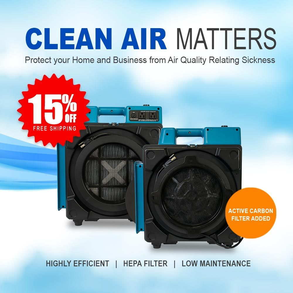 Clean air is essential! XPOWER HEPA Air Scrubbers are