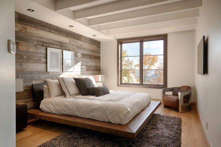 Papier peint chambre d\u0027aspect bois- 30 idées magnifiques Bedrooms