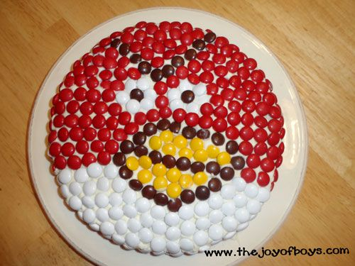 A Happy Birthday and an MMs Angry Birds Cake Angry birds cake