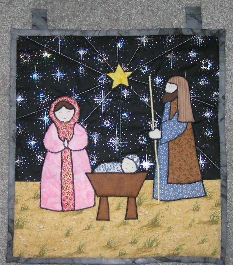 Nativity Quilt | Holidays | Pinterest | Christmas nativity, Wall ... : nativity quilts - Adamdwight.com