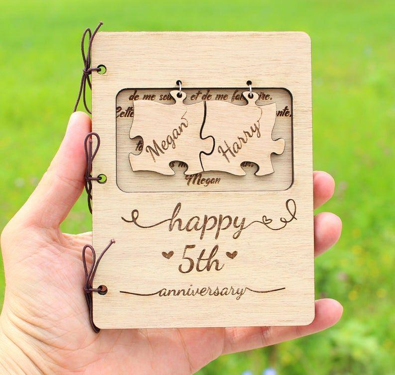 Personalised 5th Anniversary Cardanniversary Giftcouples Etsy In 2020 5th Anniversary Gift Ideas Anniversary Ideas For Her Unique Wedding Anniversary Gifts