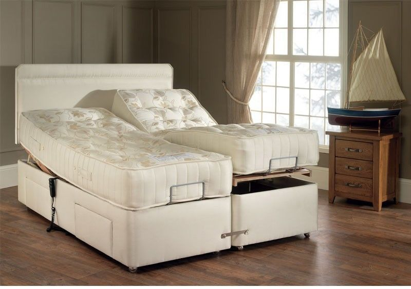 Padded Headboard And Enclosure For Adjustable Bed Latched