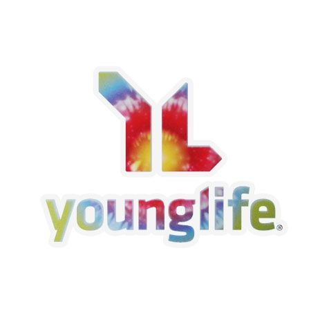 Young Life in Tie Die? What could be better?!? Buy your sticker today!