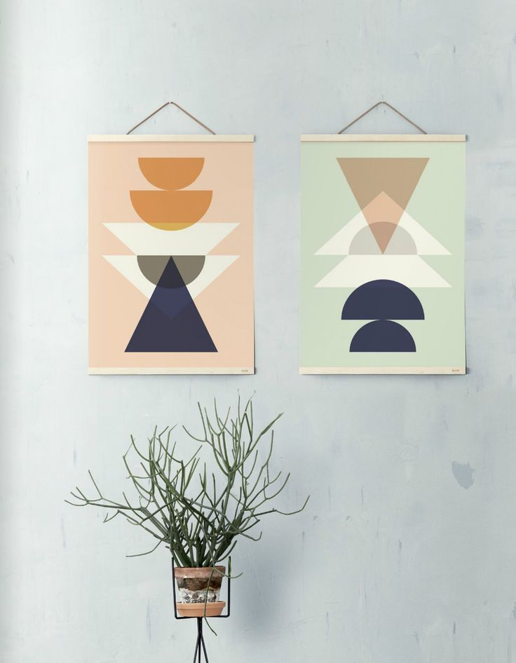 Ferm living maya poster with wooden frame