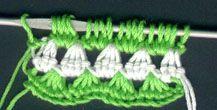 Tunisian crochet. Granny square stitch