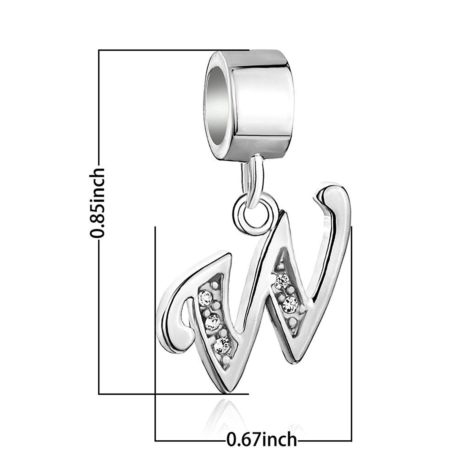 925 Sterling Silver A Z Letter Initial Charm Aiphabet Dangle Beads For Bracelets Cy17y070cs2 Initial Charm Beaded Dangles 925 Sterling Silver