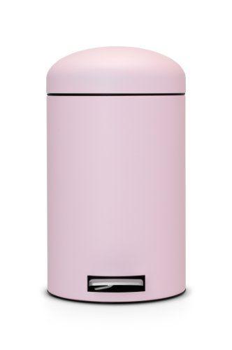 Pink Trash Can/ Brabantia Treteimer Retro Bin, Mülleimer