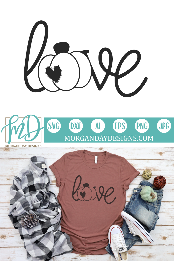 Love Pumpkin Files for Silhouette Studio/Cricut Design