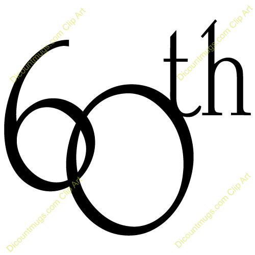 Clipart 11754 60th Anniversary