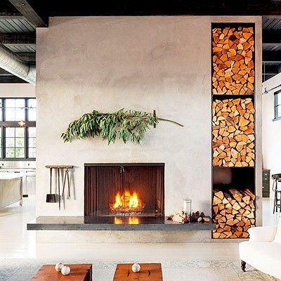 fireplace Ideas para el hogar Pinterest Chimeneas modernas