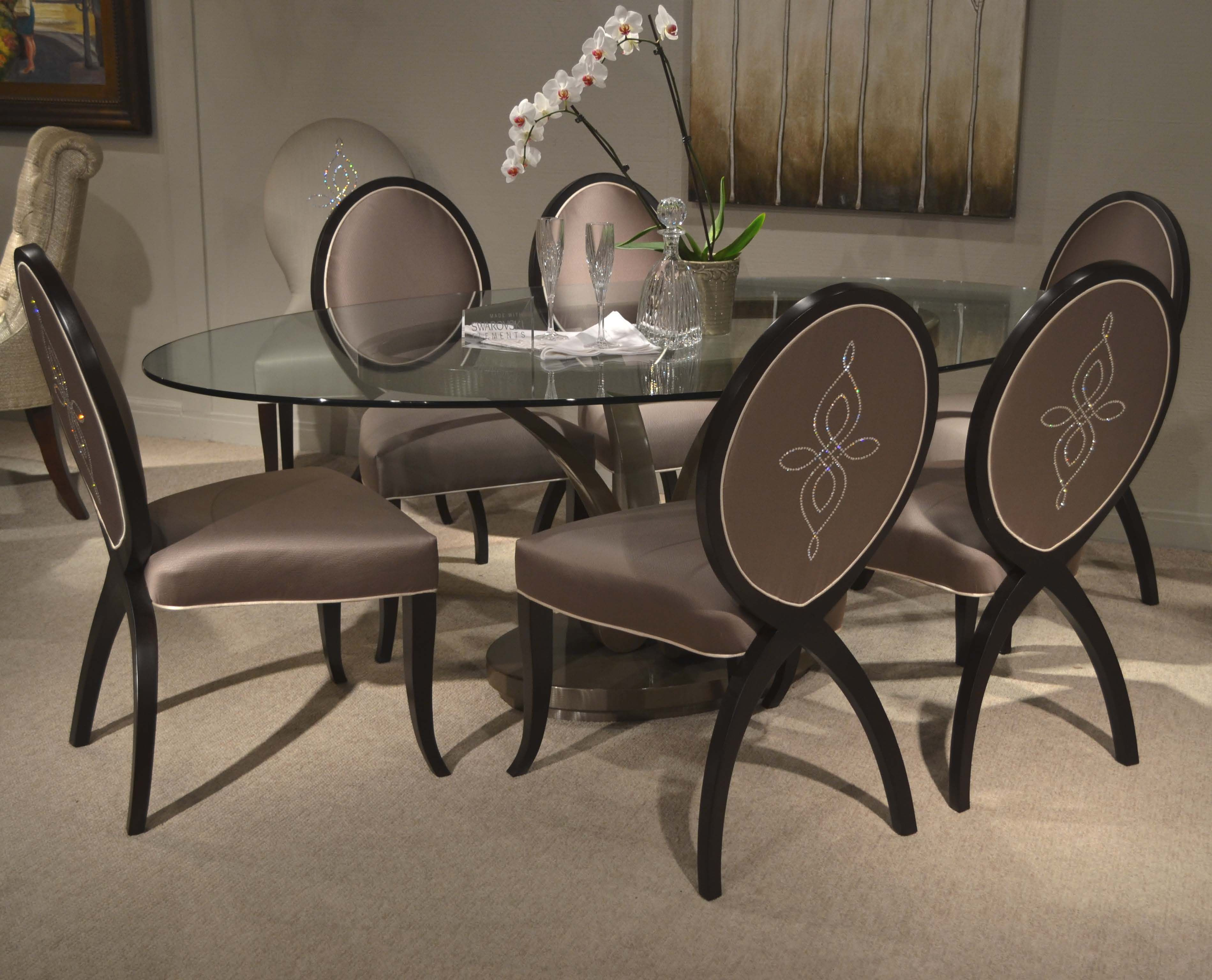 Charlotte chairs with a Swarovski Design.