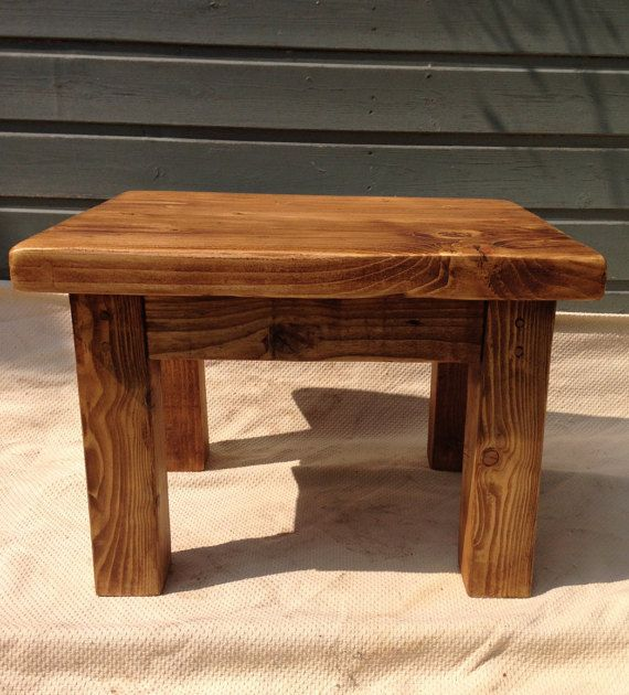 Reclaimed wood coffee / side table by CircleWoodShop on Etsy