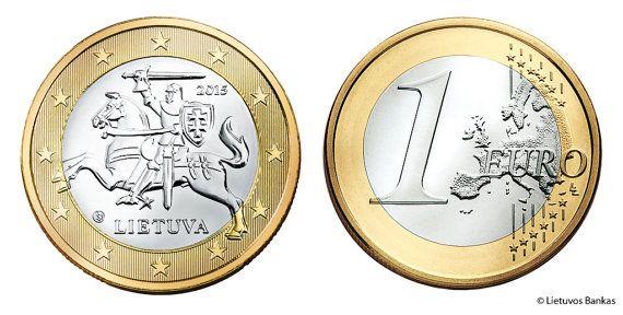 Lithuania 1 Euro Coin 2015 Vytis Coin For Luck By Ramonastore Euro Coins Euro Commemoration