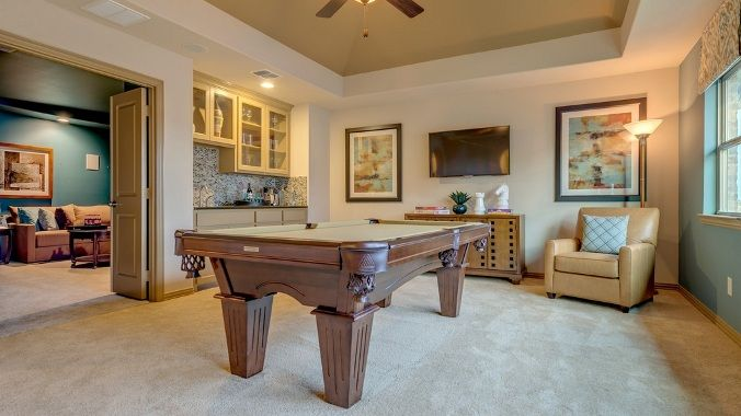 A room designed for entertaining by Darling Homes. #gameroom