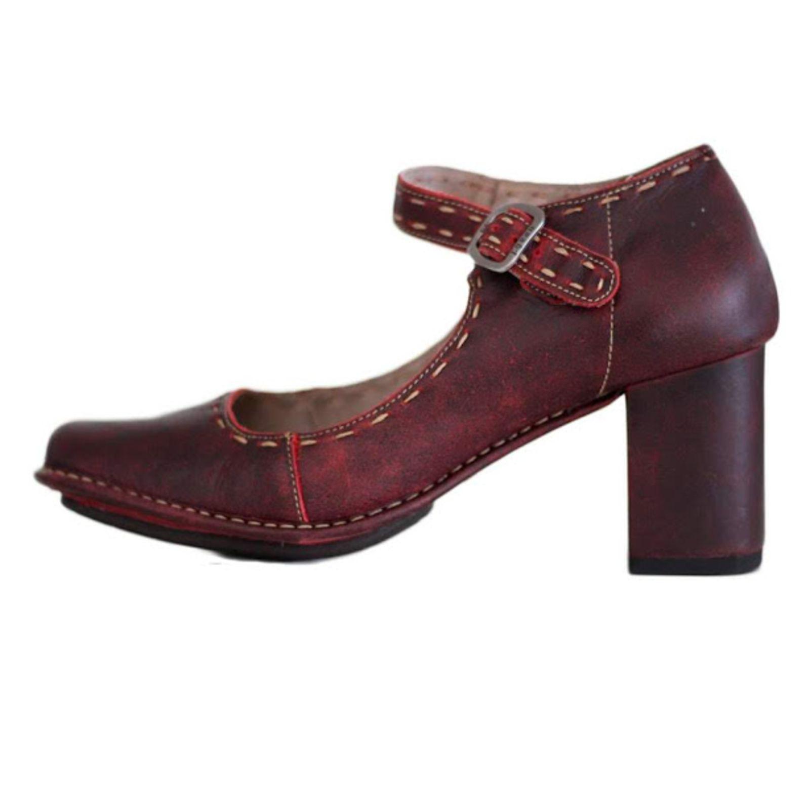 d85814411 Sapato J. Gean Retro Vintage Salto Grosso Couro Vermelho   Products ...
