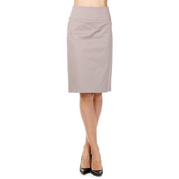 PESERICO Stretch Cotton Pencil Skirt featuring polyvore, women's ...