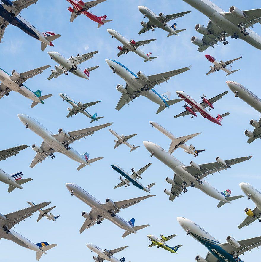 Aeropuerto Internacional De Múnich Alemania Aviones Volando Fondos De Aviones Aviones De Pasajeros