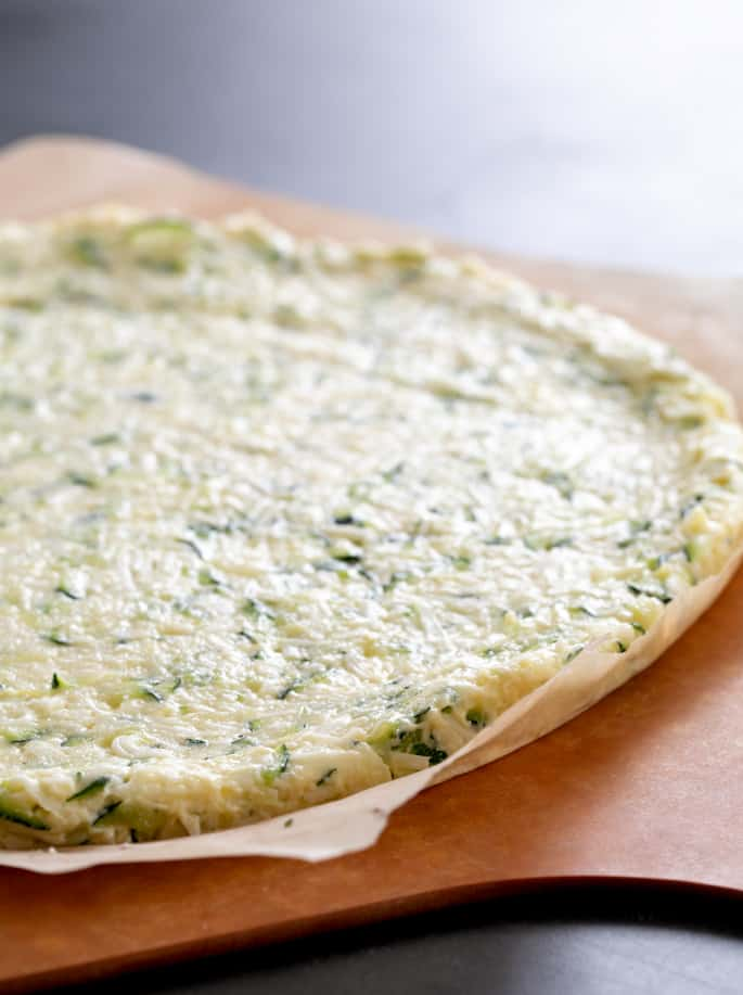 Low Carb Zucchini Keto Pizza | Fathead-Style (with video)