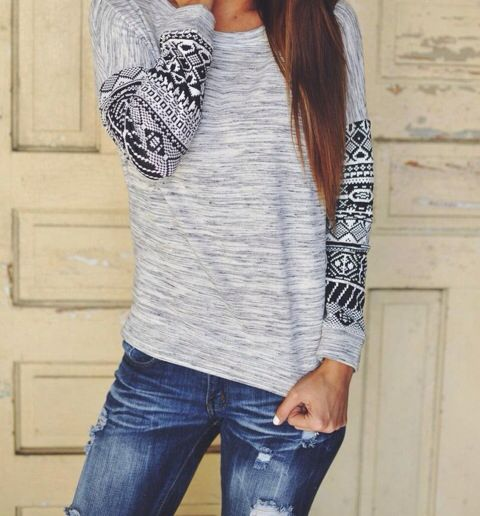Love sweaters and tribal print
