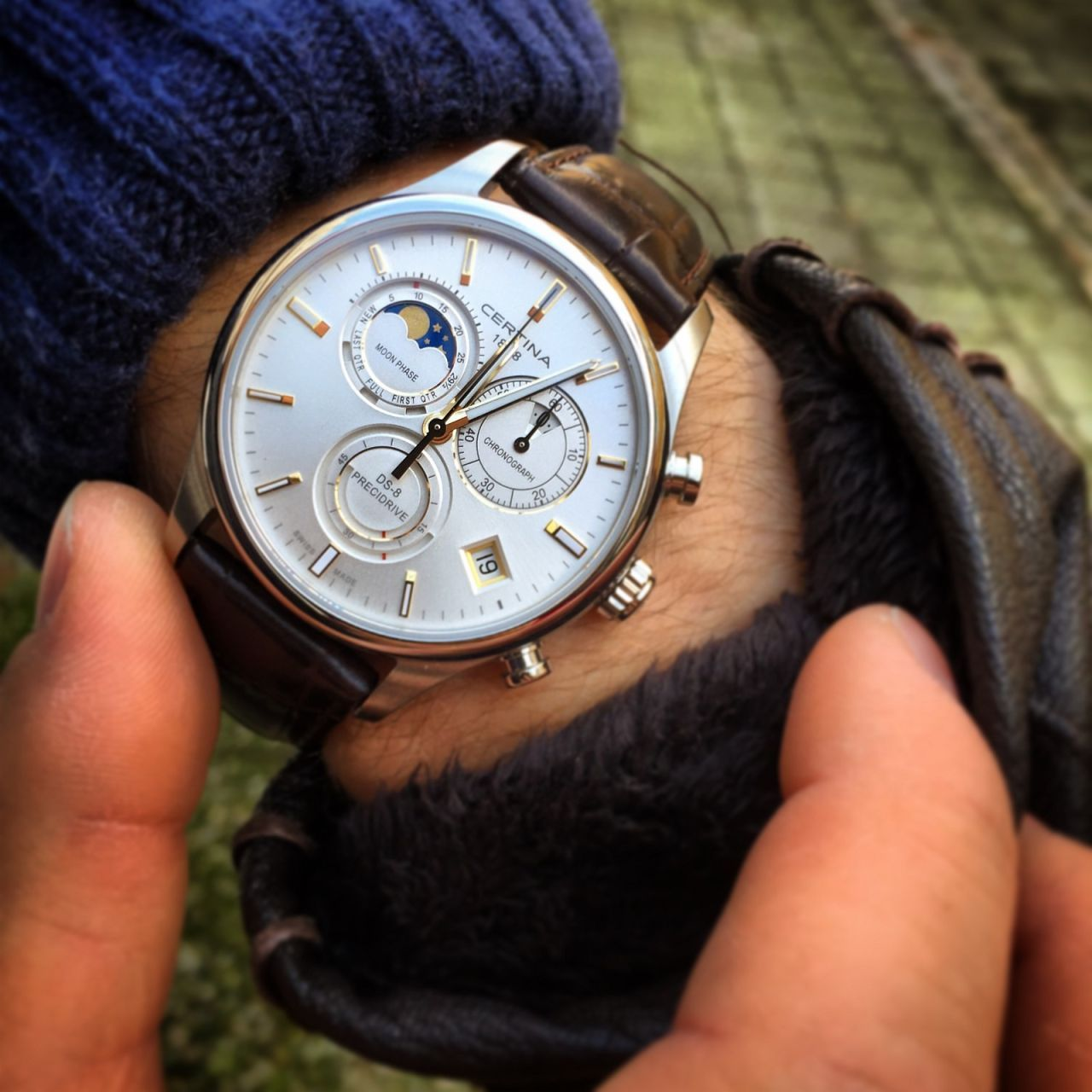 012cced77a Certina DS-8 Chrono MOON PHASE C033.450.16.031.00   Månefase   St ...