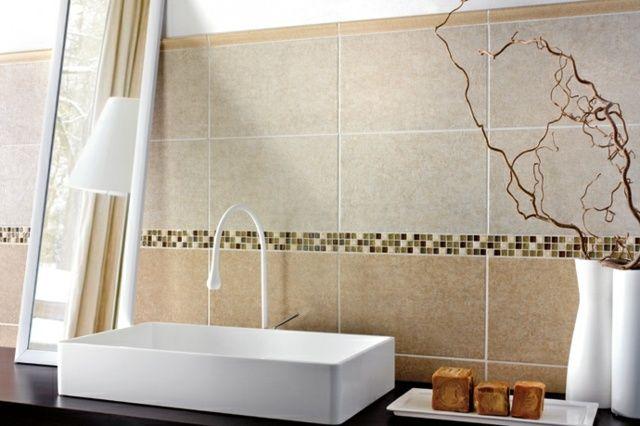 Carrelage Mural Salle De Bains Idées élégantes Pinterest - Faience salle de bain marron et beige