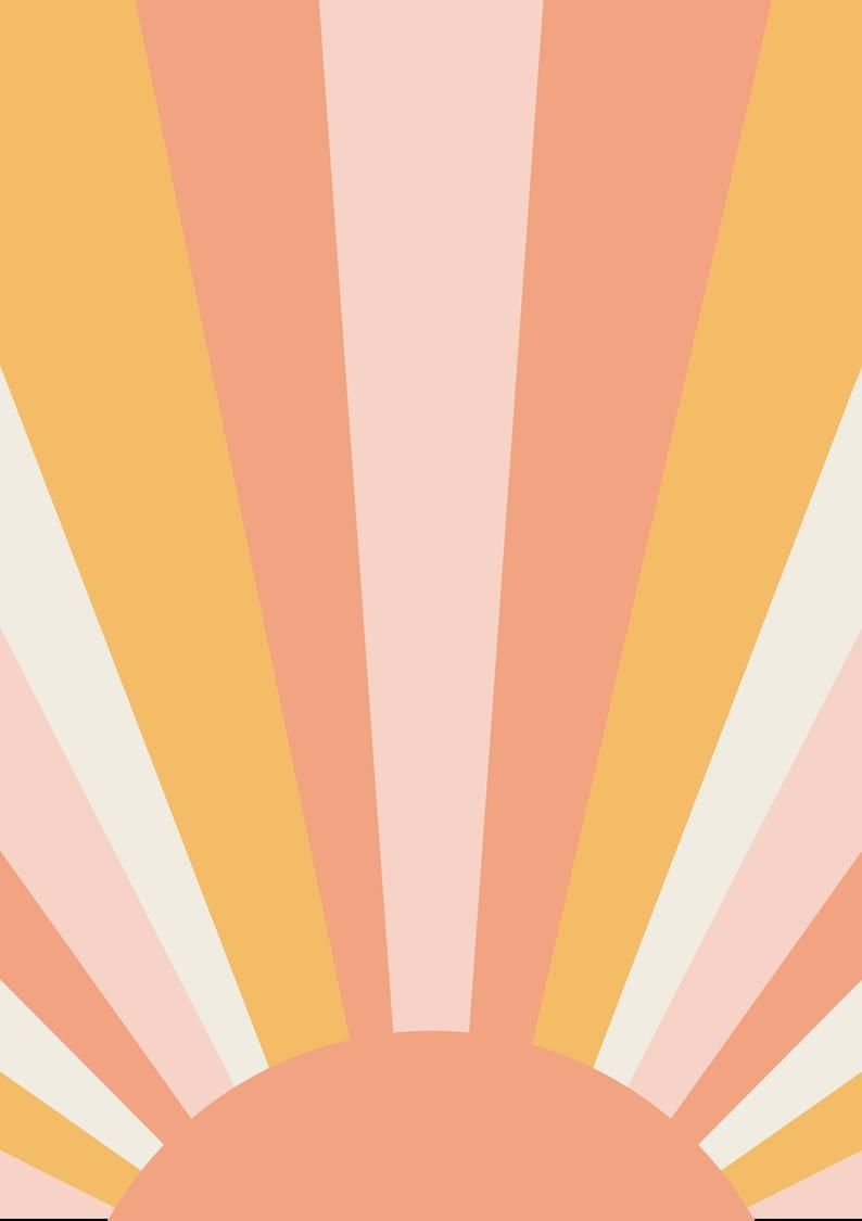 70s SUN ART PRINT | Vintage Sun Print - Yellow Sun Art - Retro Poster Print. 24x36 large. Solar Star Print - Whimsical Sun Decor, mailed art