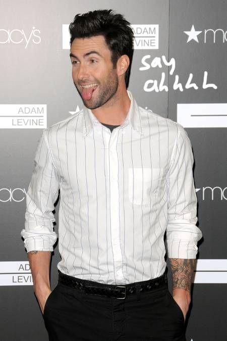 Adam Levine Always With The Tongue Out With Images Adam
