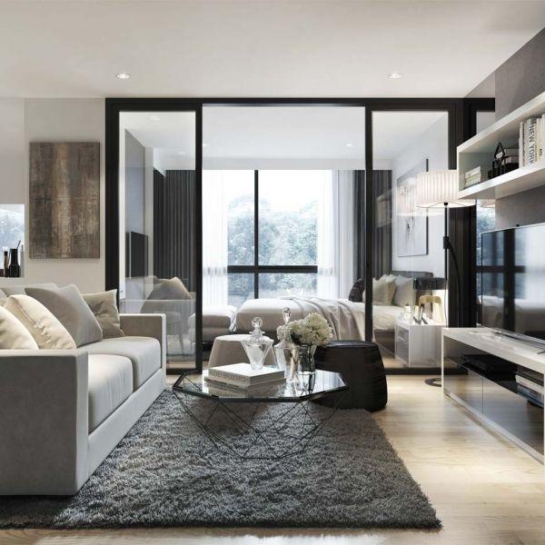 ภาพ 3d Perspective Interior Modern Houses Interior Condo