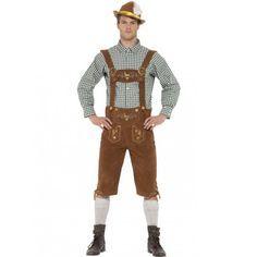 Disfraz de  Tirolés alemán estilo Bávaro premium en Marrón para hombre   Costume  Oktoberfest 9b6b2f79446
