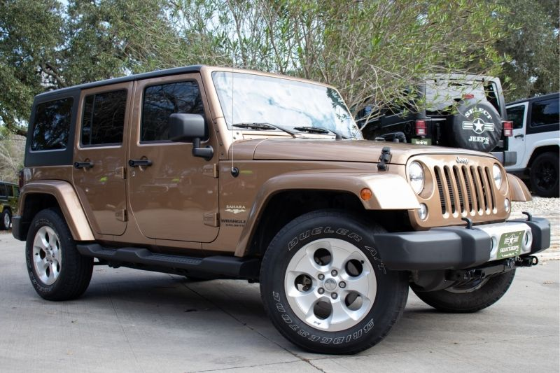 2015 Jeep Wrangler Unlimited Sahara Copper Brown Pearl Coat