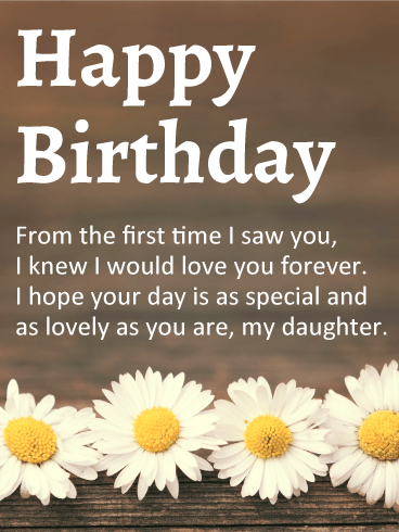 Send Free Birthday Cards for Daughter to Loved Ones on