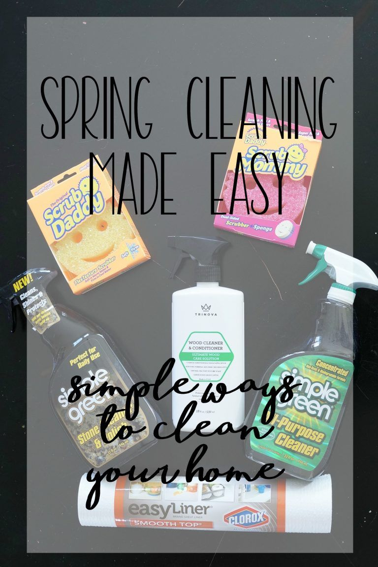 Read how this blogger tackles spring cleaning with these simple ways to clean your home. #SpringCleanBabbleboxx ad @theduckbrand