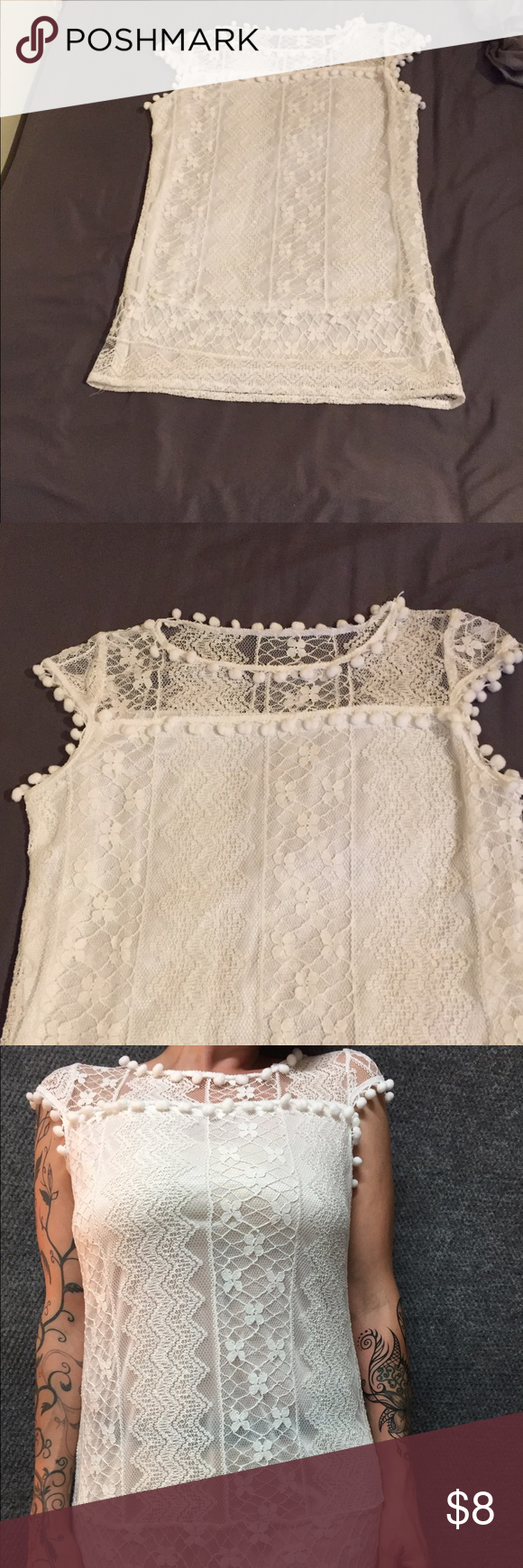 Lace dress cover up  Summer DressCoverUp Very Thin White Lace Dress Recommend use as A