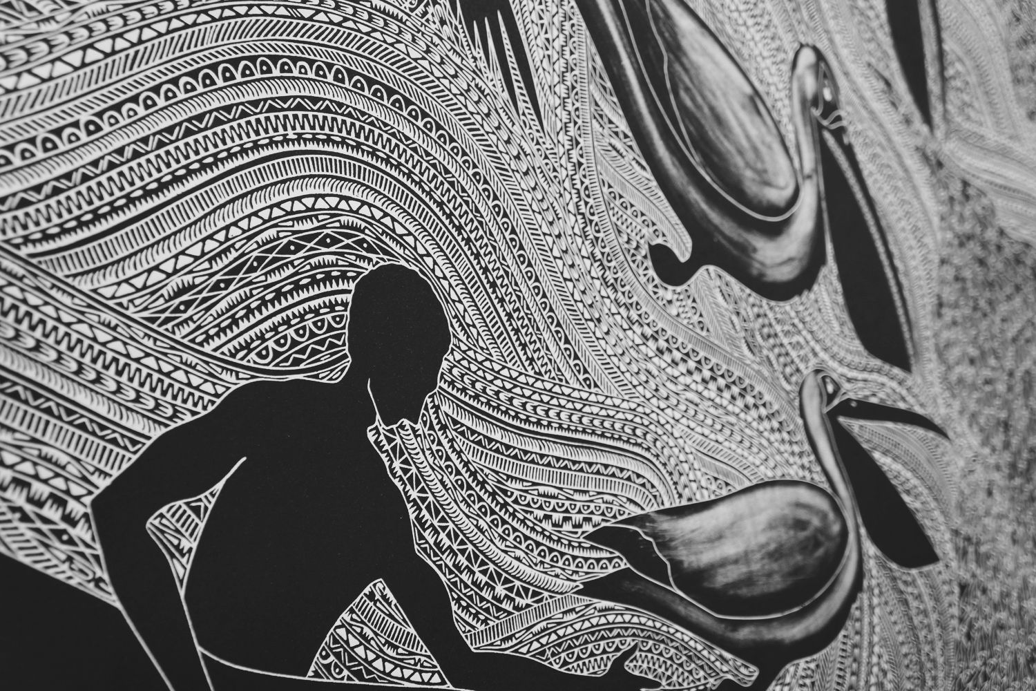 Image result for modern aboriginal art black and white