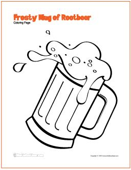 Frosty Mug Of Rootbeer Coloring Page