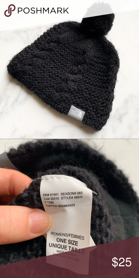 571a3b2cf5f0f North face Knit hat Cute knit beanie hat with ball. In perfect condition. Fleece  lined and insulated. The North Face Accessories Hats