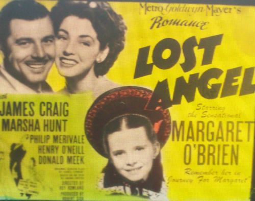 """Lost Angel"" Margaret O'Brien Movie Advertisement Magic Lantern Glass Slide | eBay"
