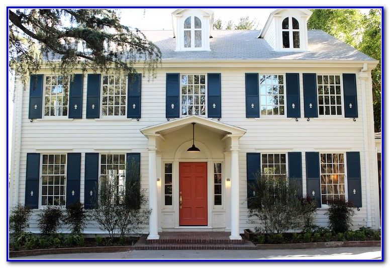 Door And Shutter Colors For White House Shutters Colonial