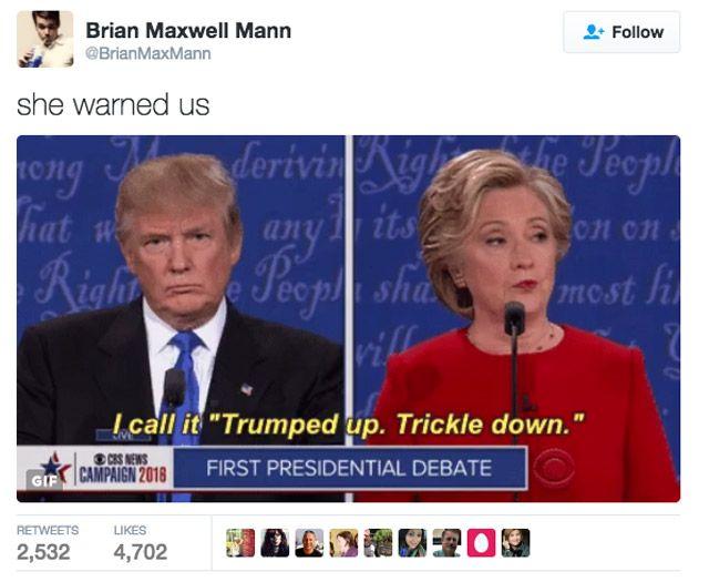 Funniest Memes Reacting To Trump S Golden Showers Scandal Trump Debate Presidential Debate Trump