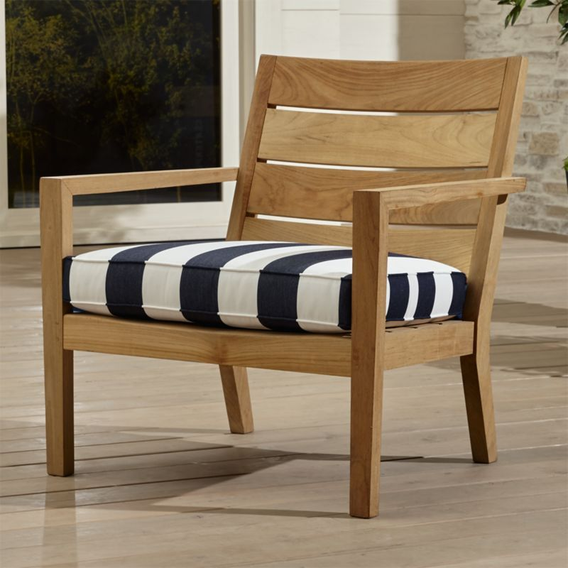 Shop Regatta Lounge Chair With Sunbrella Cushion This Teak May Be Left Unfinished To Teak Patio Furniture Lounge Chair Outdoor Outdoor Furniture Cushions