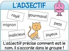 Affichages de français | Adjectifs, Adjectif qualificatif ...