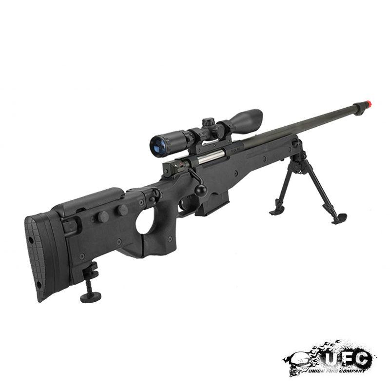 ufc aw338 bolt action airsoft sniper rifle black s250ng