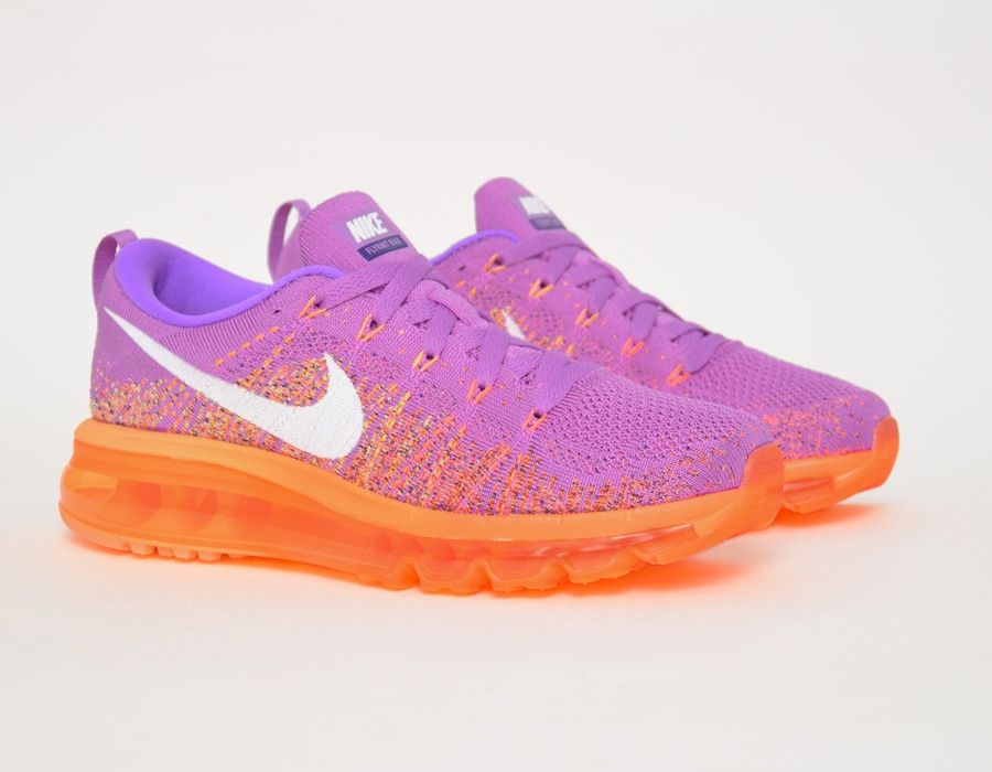promo code 7090c 29f94  Nike Flyknit Max WMNS purple orange  sneakers