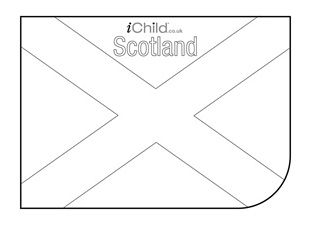 Scottish Flag Colouring In Picture Flag Of Scotland Flag Of