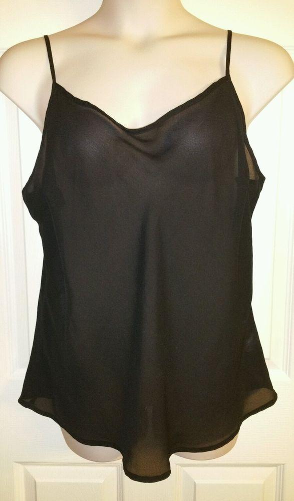Sheer Blouse Sz 2x Plus Size Black Apt 9 Sexy Top Sheer Cami Apt9