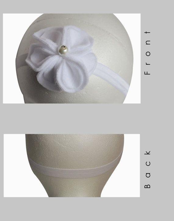Flower headband Baby girl headband Christening by IKALAoutfitter
