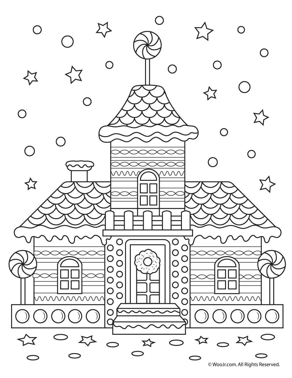 Beautiful Printable Christmas Adult Coloring Pages
