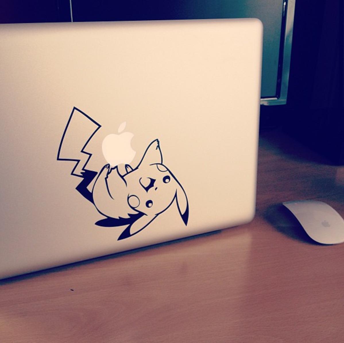 Pikachu Pokemon Macbook Decal | Customer Photos | Macbook decal