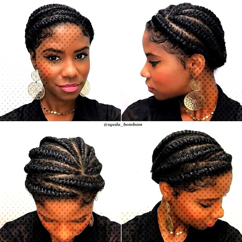 Cute Protective Flat Twisted Updo