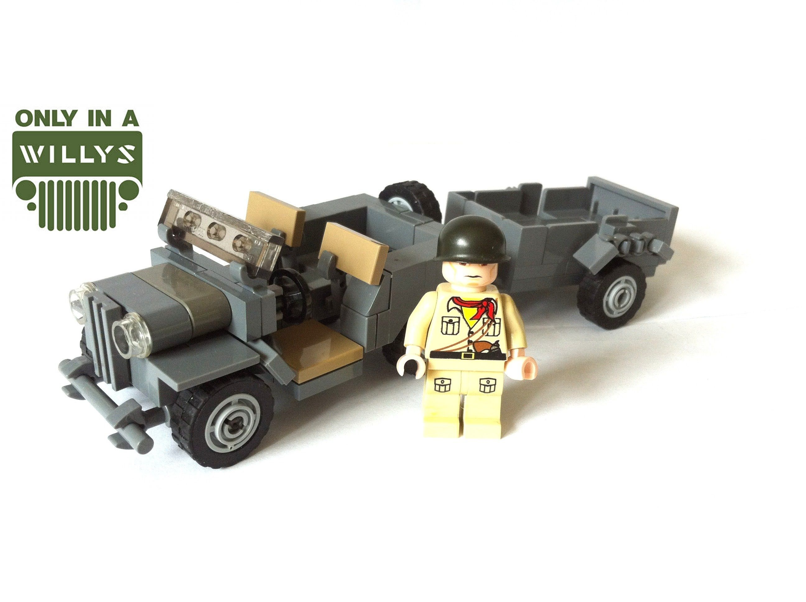 Lego Army Jeep Willys jeep colouring